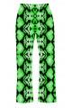 Cute Green Snake Skin Reptile Printed Loungewear Sleepwear Pyjama Bottoms Pants