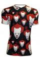Scary Killer Clown Joker Evil Horror Halloween Print Men's V Neck T-shirt Top Tee