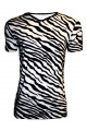 Men's Black And White Zebra Print V-Neck TShirt Tee Top