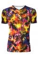 Multi Fire Breathing Dragons Alternative Printed V-Neck TShirt Tee Top