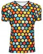 Men's Science Geometric Geeky Microscope Space Print V-Neck T-Shirt Tee