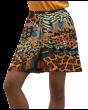 Traditional African Wild Animal Printed Skater Skirt