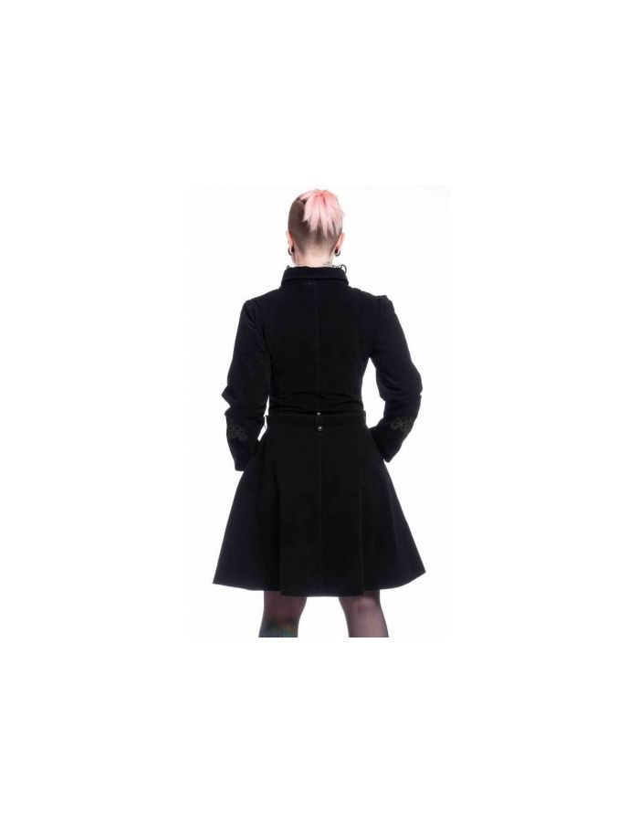 Black Velvet Steampunk Victorian Military Rozalina Jacket Coat