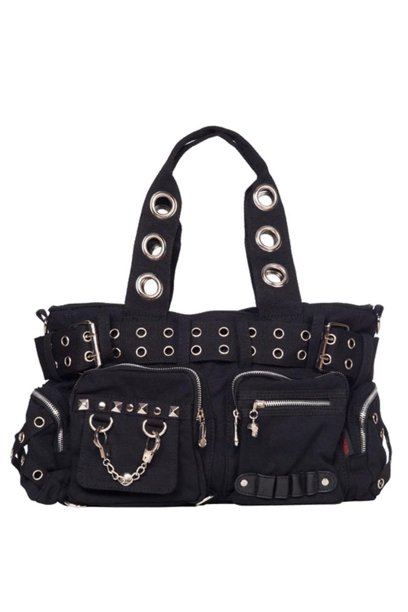 Gothic Eyelets Handcuffs Chain Urban Shoulder Handbag
