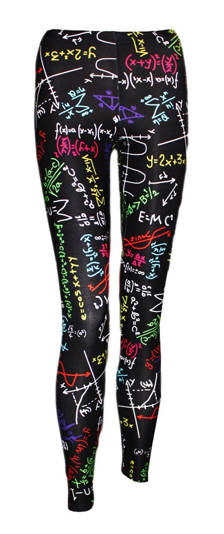 Fun Maths Formula School Print Girls Leggings