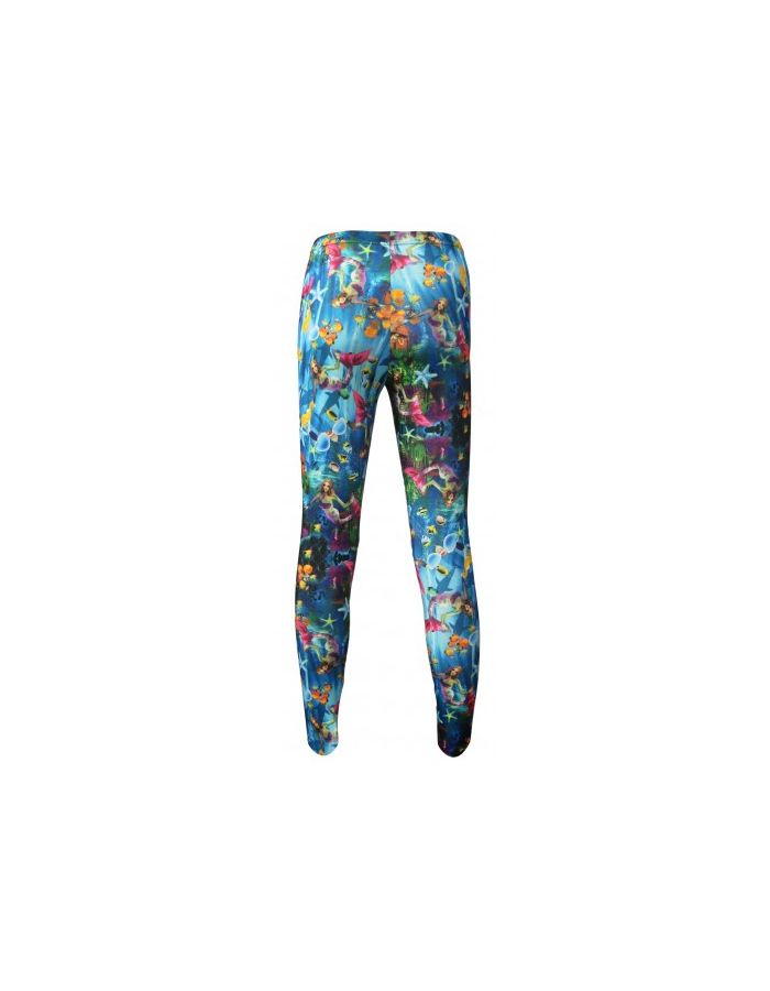 Girl's Children's Mermaid And Creatures Of The Sea Underwater All Over Printed Leggings