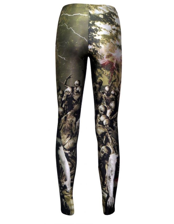 Zombies Blood Outbreak Cars Helicopter Flash Print Leggings