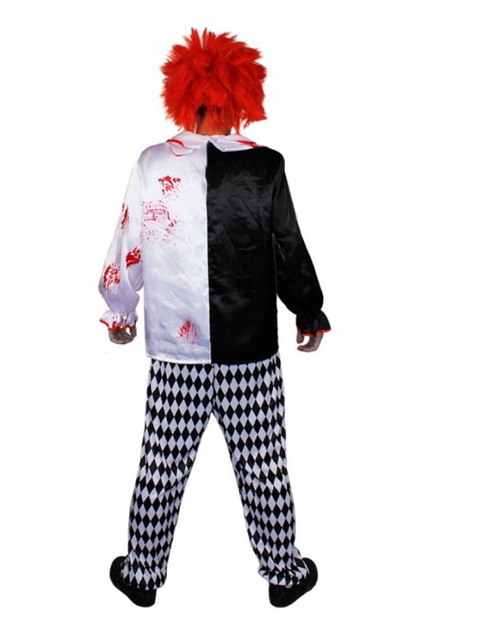 Killer Clown Horror Evil Halloween Fancy Dress Costume With Wig