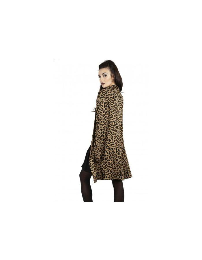 Leopard Vintage Longline 50's Rockabilly Knit Cardigan