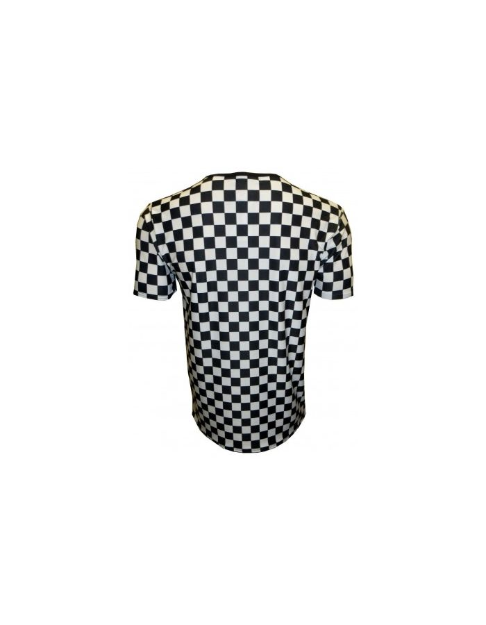 Designer Monochrome Chequer Flames Skulls Snakes Men's V Neck T-Shirt Top Tee