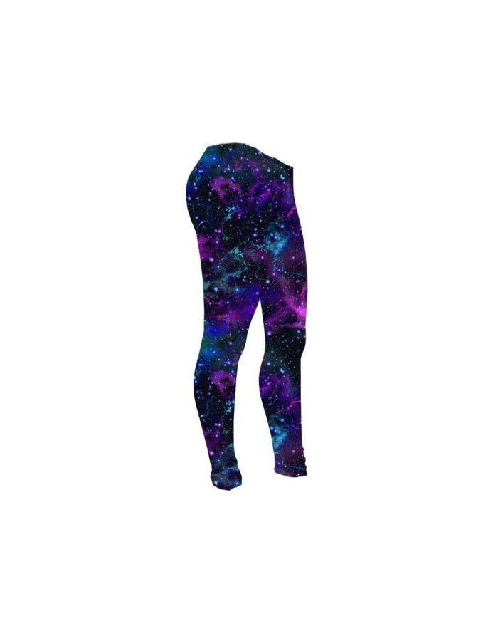Girls Cute Purple Galaxy Space Stars Printed Leggings