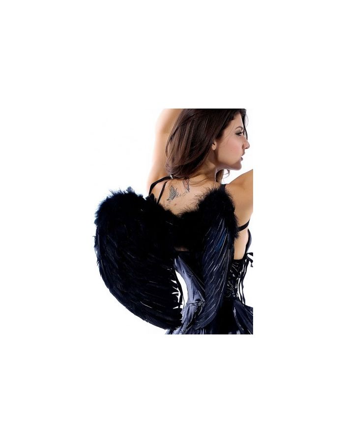 Black Fairy Feather Angel Wings