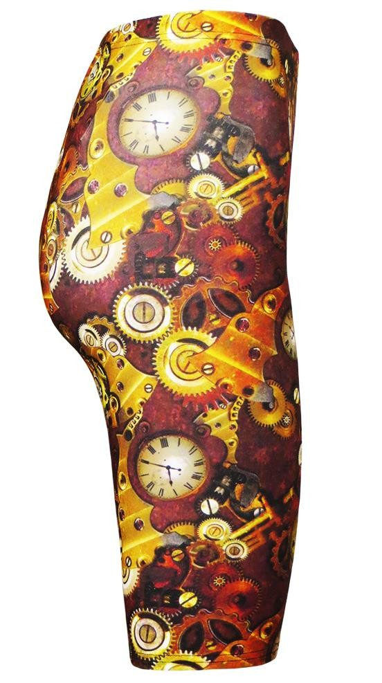 Traditional Steampunk Machine Mechanical Cogs Clocks All Over Printed Cycle Shorts