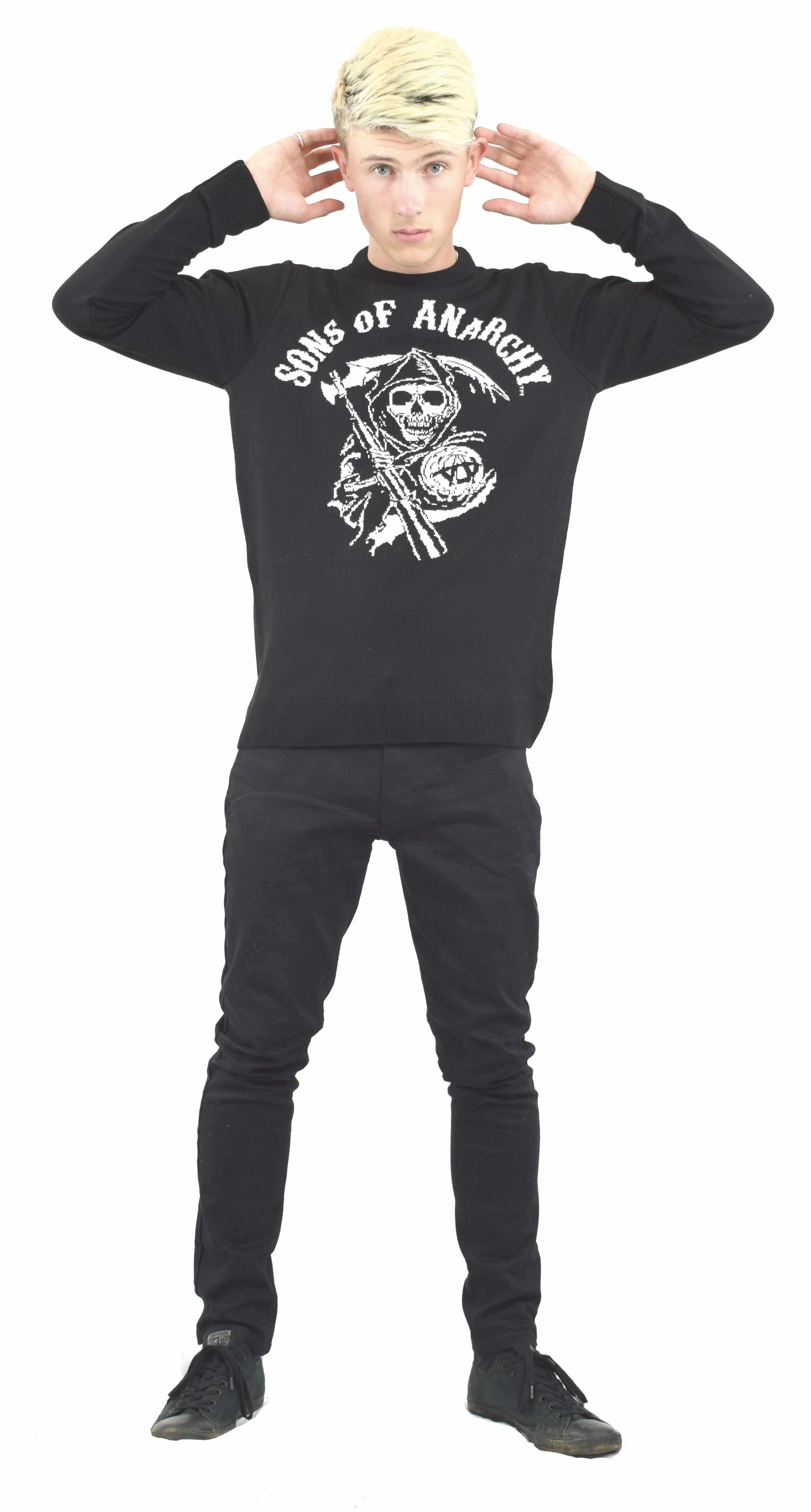 Official Sons Of Anarchy Crew Neck Knitted Jumper