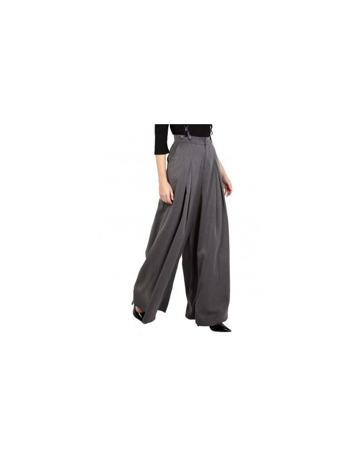 Gorgeous Grey 40's Vintage Style Wide Flare Suspenders Trousers